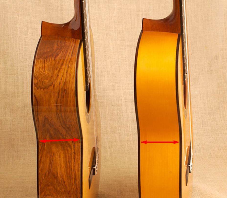 différence éclisse guitare classique et guitare flamenca