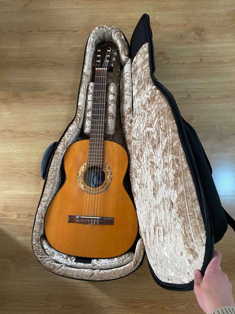 inside safecase thomann with guitar